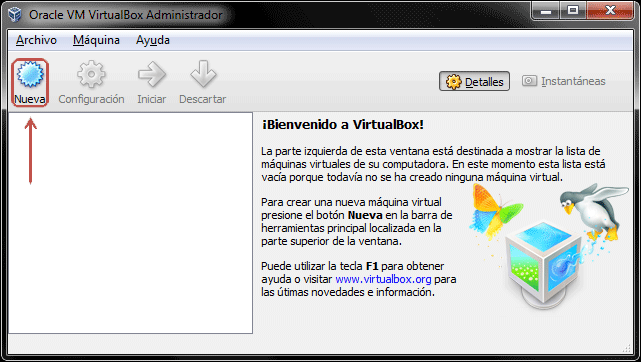 Configuración de VirtualBox – Creación de una máquina virtual para Windows 8